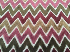 Fabricut Cut Velvet Chevron Upholstery Fabric- Rhinebeck Mulberry 1.3 yd 5412002