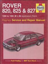 ROVER 820 825 827 INCL 16V , TURBO & VITESSE 1986 - 1995 OWNERS REPAIR MANUAL