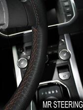 25 qualité en cuir italien noir volant couvrir Fits ROVER 200