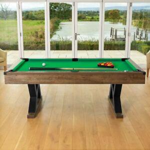 PINPOINT Billardtisch | 7FT Billardtisch aus Holz + 2x Queue, Bälle & Kreide