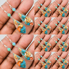 Turquoise Dangle Engagement Women Silver Bridal Wedding Vintage Drop Earring