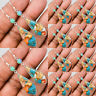Turquoise Dangle Engagement Women Silver Bridal Wedding Vintage Drop Earring