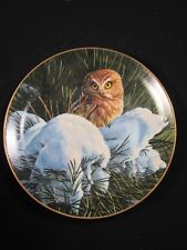 Danbury Mint - Snowy Dawn - The Owls Of North America - Collector Plate