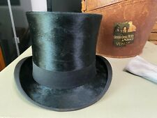 Vintage Tress & Co. Ltd London Silk Plush Top Hat Great Condition w/ leather box