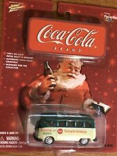 JL Johnny Lightning Coca-Cola COKE Holiday Santa VW Volkswagen SAMBA BUS
