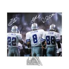 Emmitt Smith Troy Aikman Michael Irvin Autographed Cowboys 16x20 Photo - JSA/BAS