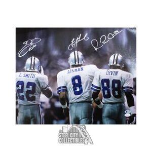Emmitt Smith Troy Aikman Michael Irvin Autographed Cowboys 16x20 Photo - JSA/BAS