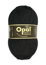 Opal Sockenwolle Uni 4-fach 100g Strumpfwolle wolle tiefschwarz