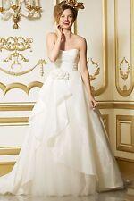 """Wtoo 11421 """"Elara"""" Size 10 Ivory Wedding Dress"""