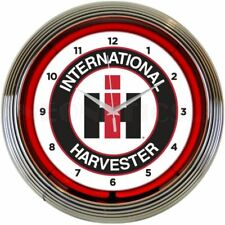 International Harvester Logo Neon Clock 8CASEH w/ FREE Shipping