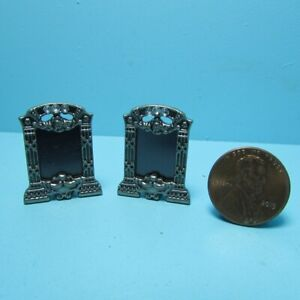 Dollhouse Miniature Pewter Table Top Picture Frame Set of 2 B0241