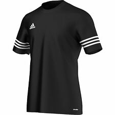 Adidas Kids Boys Entrada T Shirt Football Climalite Gym Top Jersey Black