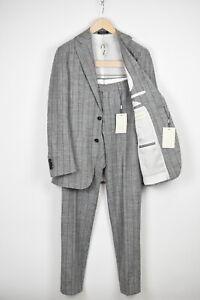RRP $599 SUITSUPPLY HAVANA SLIM Men UK36R Silk Linen Blend 2-piece Suit 16271