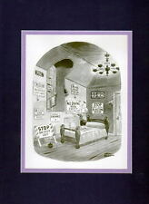 Chas Addams ADDAMS FAMILY - 'PUGSLEY FINDS A HOBBY' MATTED PRINT