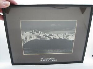 "1944 ANSEL ADAMS ""WINTER SUNRISE"" SIERRA NEVADA FRAMED MATTED"