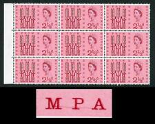 Spec W29a 1963 2 1/2d FFH with Line though MPA of Campaign Variety U/M