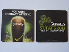 Guinness St Patrick's Day 2013 Beermat Coaster