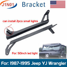 "1987~1995 JEEP WRANGLER YJ UPPER LOWER MOUNTING BRACKET FOR 50""IN LED LIGHT BAR"