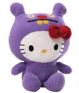 "GUND Hello Kitty X Ugly Doll 7"" Purple Trunko Limited Edition Super Soft Plush"