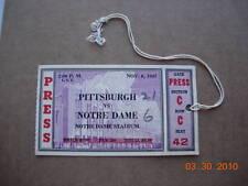 Notre Dame vs. Pittsburgh Press Ticket 11-6-1937 RARE