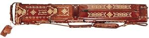 WIN LC24ENC-4 2x4 Tooled Leather Pool Cue Case w/ FREE Shipping