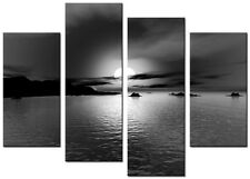 4 PANEL TOTAL SIZE 90x70cm ABSTRACT ART  DIGITAL  PRINT MOUNTED Leo Black White