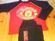 BOYS 2 LONG SLEEVES PYJAMAS MANCHESTER UNITED SCOOBY DOO SIZE 9-10 YEARS