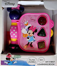 DISNEY MINNIE MOUSE & DAISY,MY FIRST LEARNING BOOK,LIGHTS,VOICES,& SOUNDS,1+,NEW