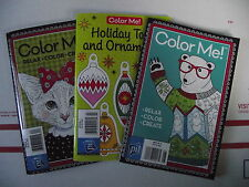 Lot of 3 Pilsbury  Adult Coloring Books Free shipping !