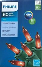 NEW! Philips 60 Mini Lights Red Indoor Outdoor Christmas Party Wedding LED Tree