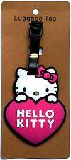 "3X4"" HELLO KITTY pink heart pink bow suitcase ID Travel Baggage LUGGAGE TAG"