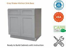Gray Shaker Kitchen Sink Base Cabinet