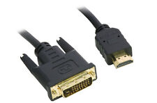3M Metre HDMI to DVI DVI-D PC to TV Cable Lead GOLD