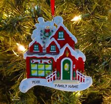 Christmas Cottage - Our First Home Personalized Christmas Tree Ornament