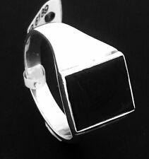 Genuine Sterling Gents Black Onyx Signet Style Ring