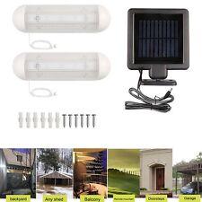 Solar Powered Fence Gutter Light 10 LED Outdoor Garden Yard Garage Wall Pathway
