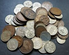 Lot of 80x Assorted Great Britain Coins - Various Dates & Denominations