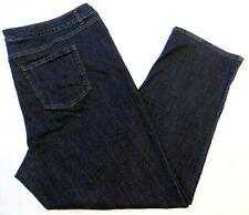 Terra e cielo PLUS-SIZE Lavaggio Scuro Gamba Dritta Stretch Denim Jeans-Taglia 22W