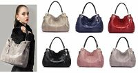 Real Genuine Leather Women's Handbag Shoulder Satchel Hobo Purse Messenger Bag