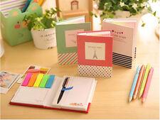 2pc New Pocket Cute Mini Notebook Note Pen Memo Diary Planner Color Random #J3
