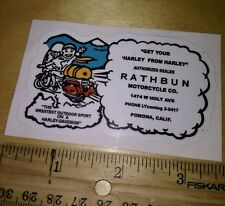 (1 )RATHBUN Motorcycle Dealer  DECAL