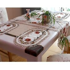 Yazi Placemat Embroidered Flower Coasters Table Fabric Cutwork Doily Desktop Mat 000634 Peony 1pc
