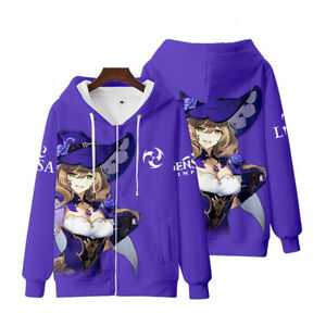 Genshin Impact 3D Hoodie Sweatshirt Pullover Jumper Hooded Coat Sweater