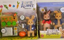 Peter Rabbit Movie 2 Pack Collectible Figure Set and  Peter Rabbit Garden Set