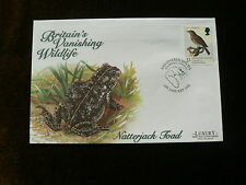 1998 Luxury FDC: Natterjack Toad, Britain's Vanishing Wildlife, Mousehole p/m