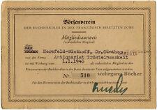 Dokumente eines deutschen Schriftstellers. Persilschein, Ausweis, etc.