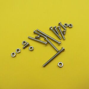 Phillips Round Head M3 Screw with Nut Nickel Plated Machine Bolt