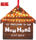 Waahome First Christmas in Our New Home 2021 Ornaments Christmas Tree Decoration