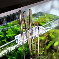 Aquarium Maintenance Kit Tweezers Curve Scissors Fish Tank Cleaning Tool Rack