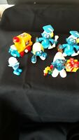 6 Schleich Smurfs Peyo Gift Smurf #2 Hong Kong PVC Figure Toy 78 motorcycle guy
